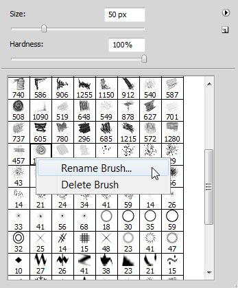 Rename A Photoshop Brush