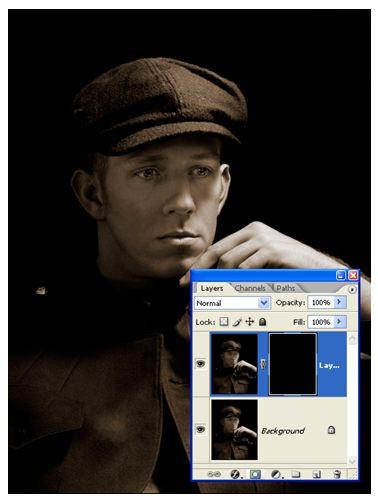 Retouching A Portrait Mask Applied - Photoshop Tutorial by Jennifer Farley