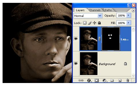Retouching A Portrait Painting On Mask - Photoshop Tutorial by Jennifer Farley
