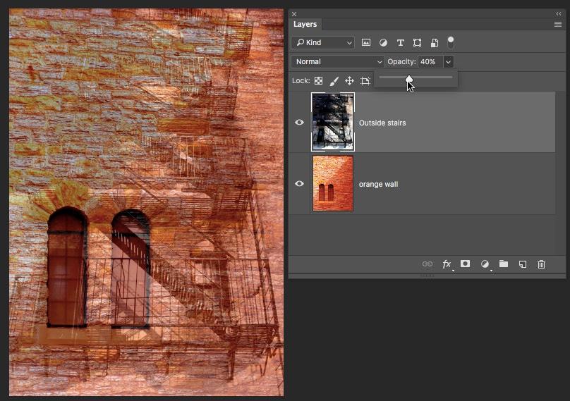 Top Layer Opacity Photoshop