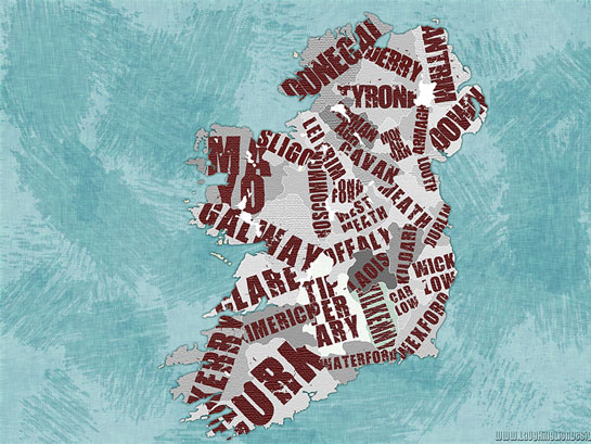 text wallpapers. Ireland Map Wallpaper by