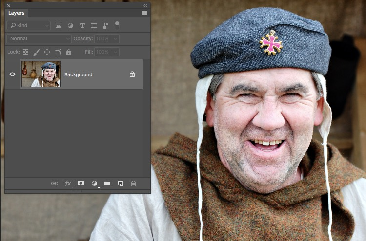 Photograph With Background Layer - Photoshop