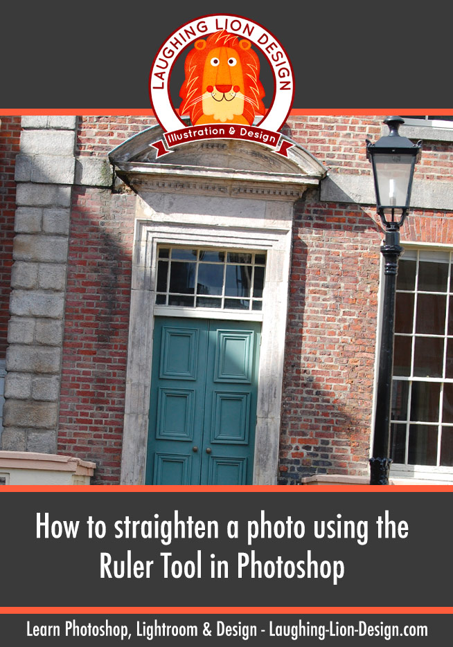 how to straighten a photo with the ruler tool in photoshop