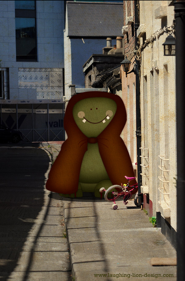 Hooded Monster On Dublin Street by Jennifer Farley