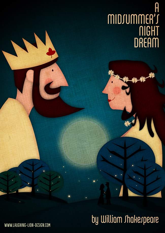 Midsummer's Night Dream Poster Illustrated by Jennifer Farley