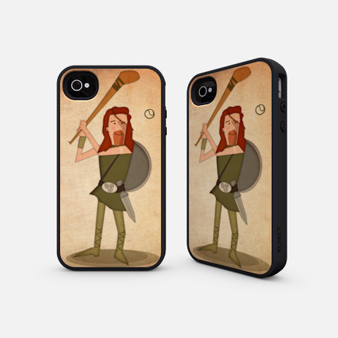 Cu Culainn iPhone illustrated by Jennifer Farley