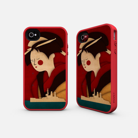Madam Butterfly iPhone Case Illustrated by Jennifer Farley