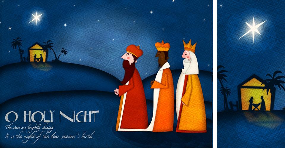 O Holy Night - Illustration by Jennifer Farley