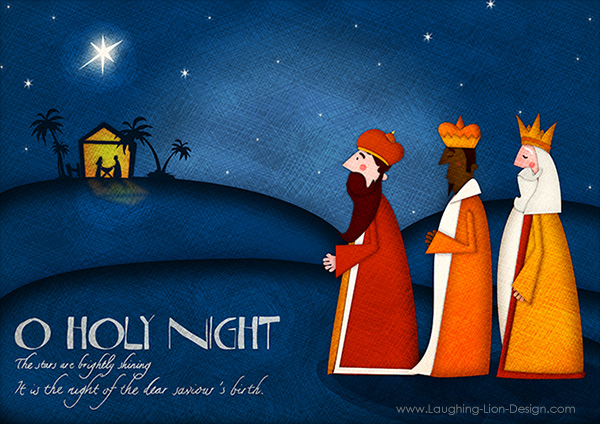 O Holy Night - Illustration by Jennifer Farley