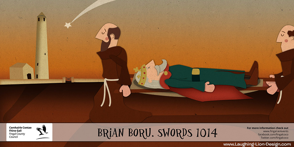 Death of Brian Boru - Vikings - Illustrated by Jennifer Farley