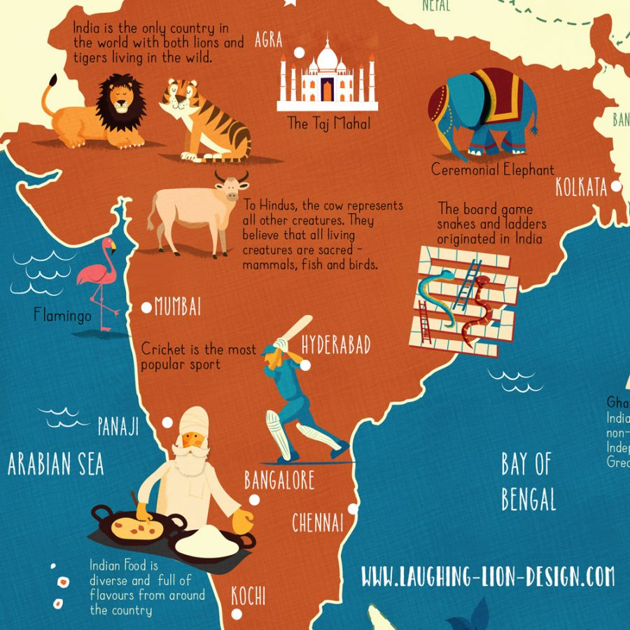 Map-of-India-illustrated-by-Jennifer-Farley-closeup1