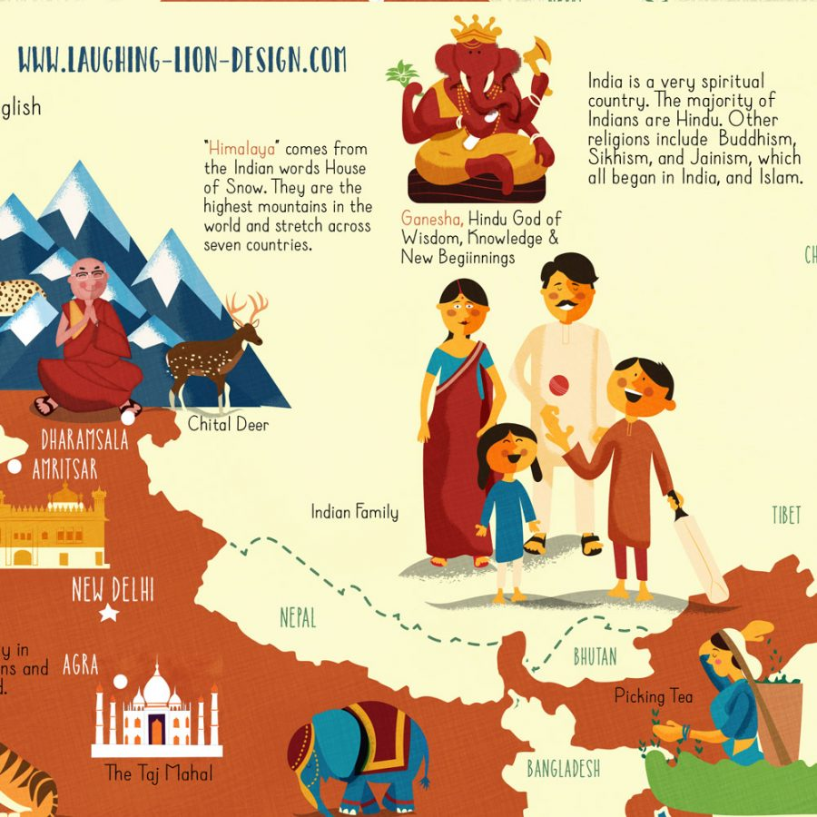 Map-of-India-illustrated-by-Jennifer-Farley-closeup2