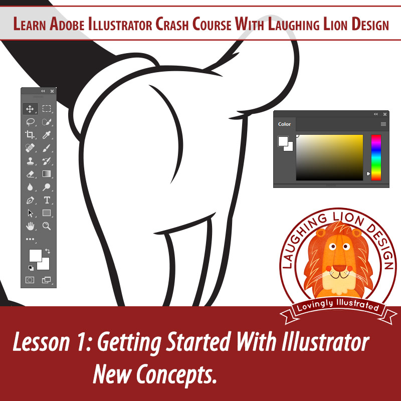 01 Learn Illustrator Laughing Lion Design