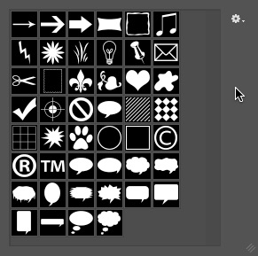 10 - Appended Custom Shapes - Photoshop