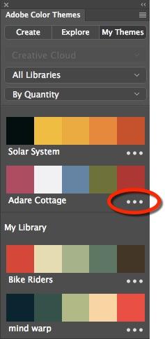 Photoshop Color Themes Panel