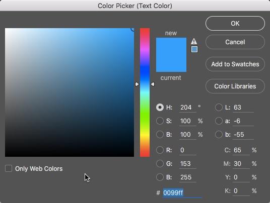 5 - Photoshop Colour Picker