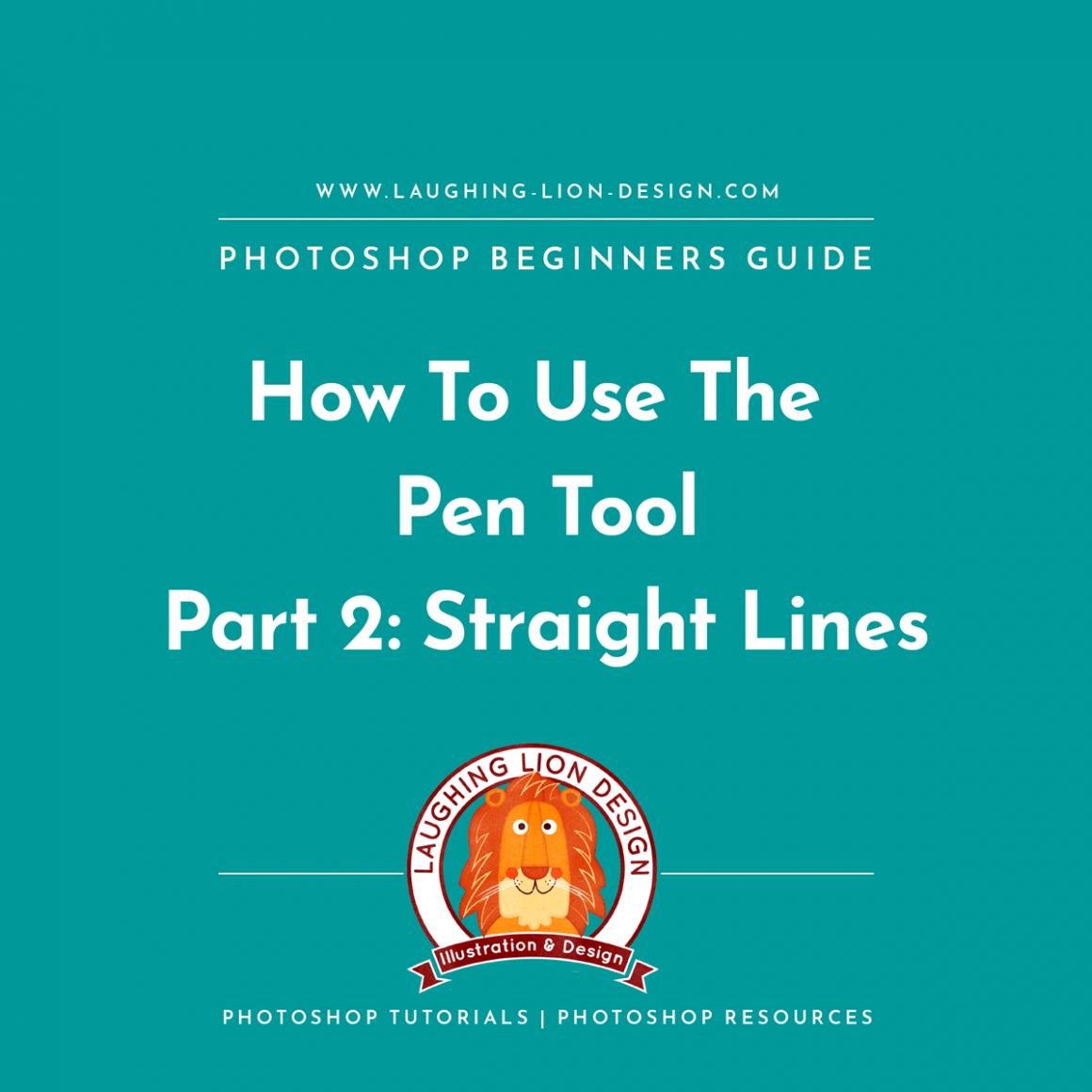 How-To-Use-The-Pen-Tool-In-Photoshop-Part-2-Laughing-Lion-Design