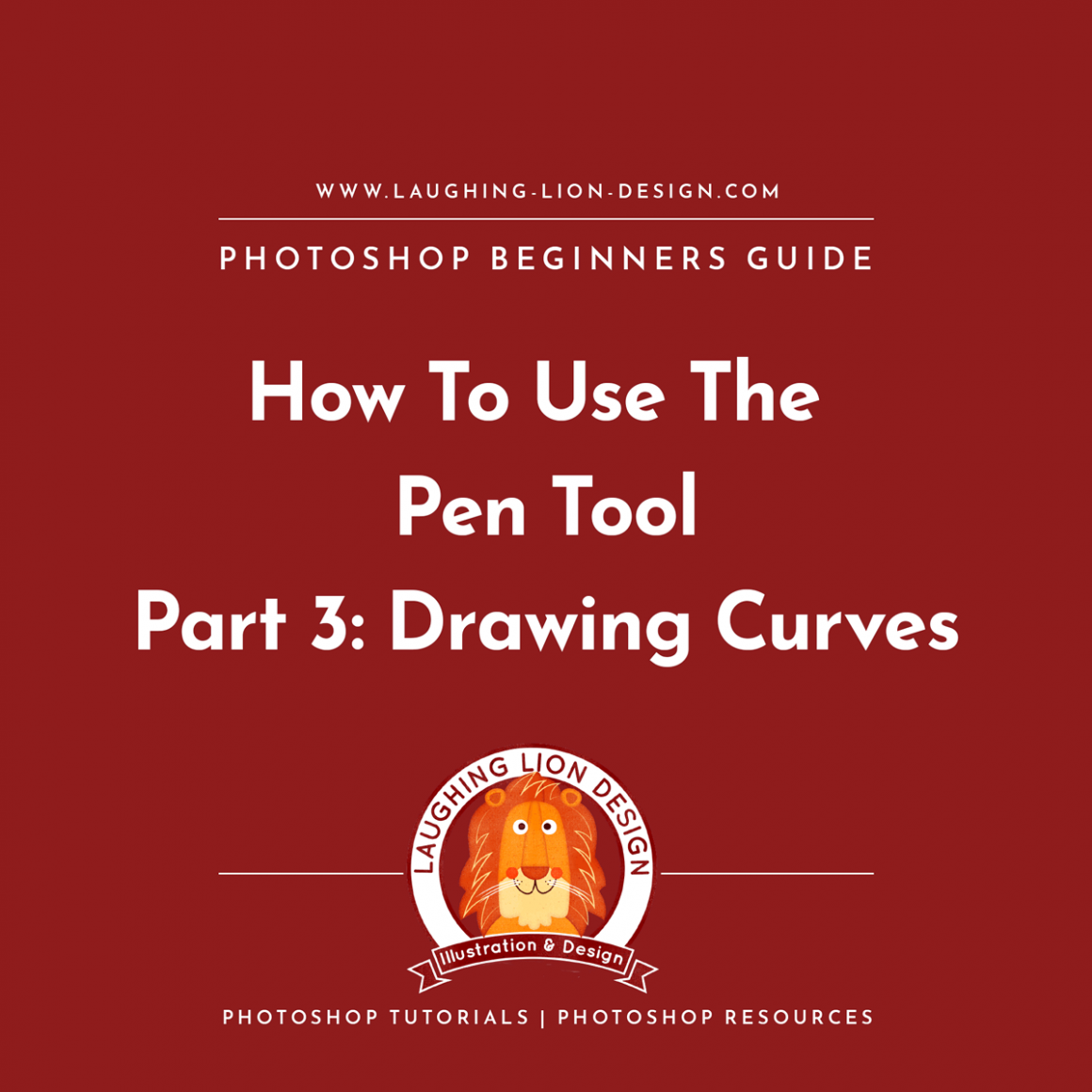 How-To-Use-The-Pen-Tool-In-Photoshop-Part-3-Laughing-Lion-Design