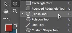 1 - Select The Elliptical Shape Tool Photoshop