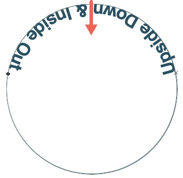 11 - Text Flipped Inside Circle Upside Down