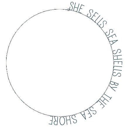 3 - Text added around the circular path